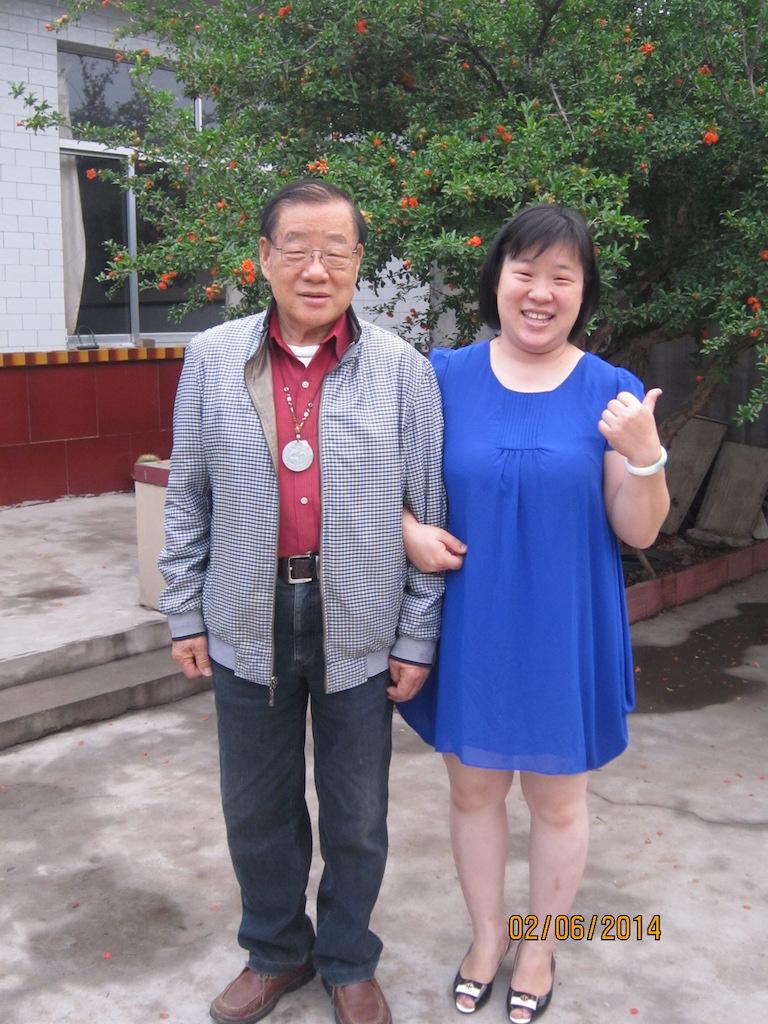 高滢老师与女儿在蓬莱仙岛合影